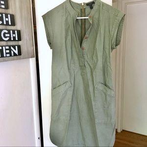 J.Crew Retail Safari Military Dress with pockets
